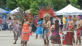 Aztec Folk Atl Tlachinolli dancing indigenous mexican dances at the Hispanic Heritage Festival
