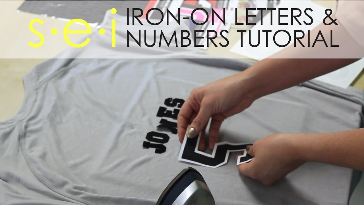 Diy Team Shirt Jersey Numbers And Letters Sei Crafts