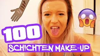 100 SCHICHTEN MAKE-UP  / 100 LAYERS OF FOUNDATION BEAUTY TEST