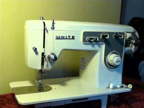 NIFTYTHRIFTYGIRL Vintage White Model 40 Sewing Machine YouTube Magnificent White Sewing Machine Model 1265