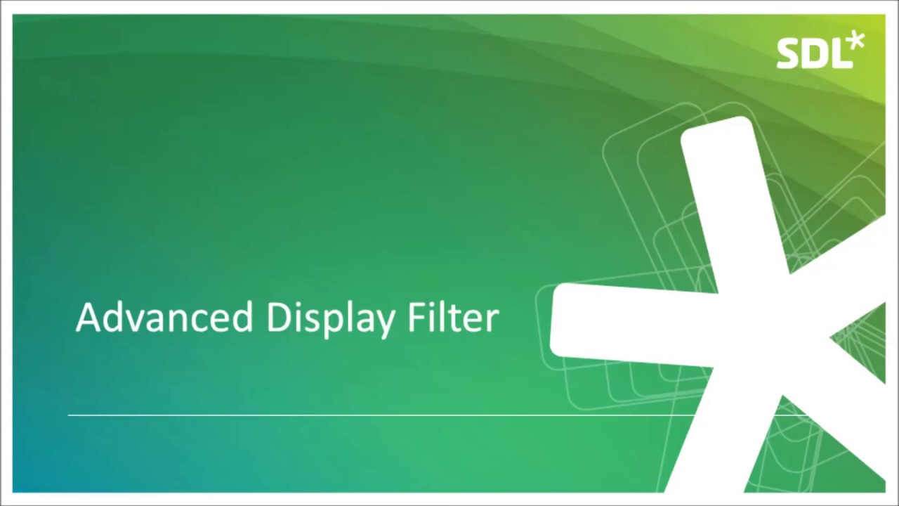 Can you filter a document in SDL Trados so it only displays specific content?
