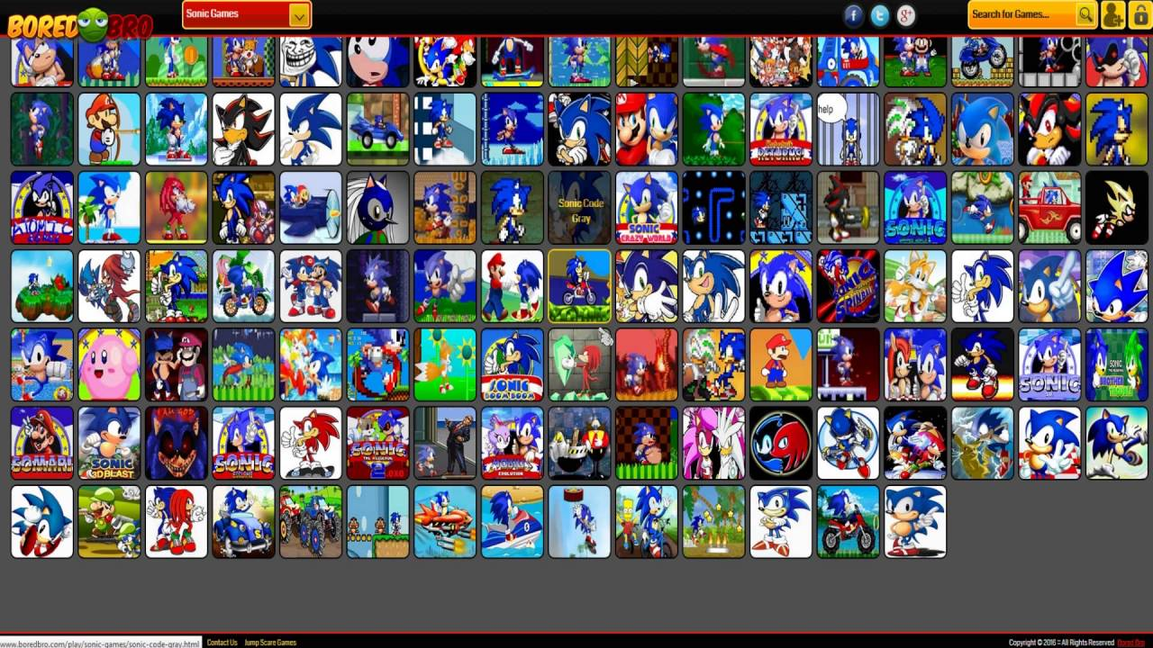 Best Sonic Games Online Webpage Play Link Youtube