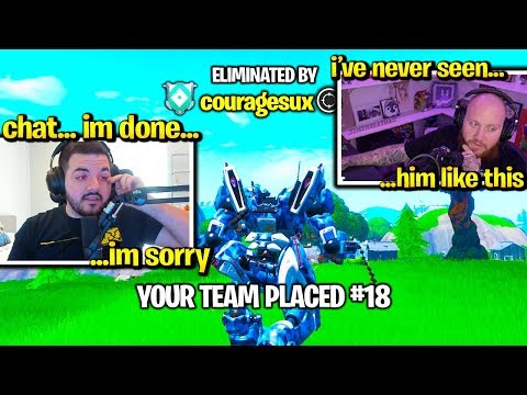 COURAGE *CRIES* on STREAM then QUITS FORTNITE after THIS!