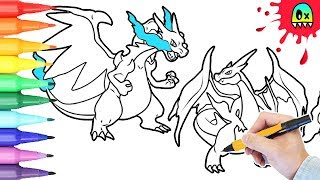 Pokemon Coloring Mega Charizard X Y Coloring Book Pages