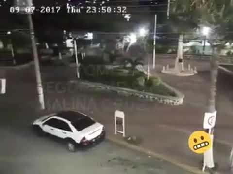 Momento exacto #TERREMOTO en Salina Cruz, Oaxaca