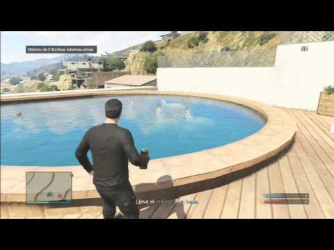 gta v tubar es na piscina youtube
