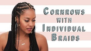 Cornrows with Individual Braids Hair Tutorial | ipsy Mane Event