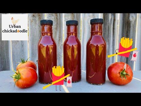 Homemade Ketchup Using Fresh Tomatoes