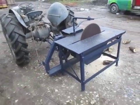 Tractor Pto Powered Saw Bench Youtube