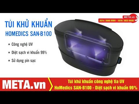 Túi khử khuẩn CÔNG NGHỆ TIA UV HoMedics SAN-B100 có tác dụng như thế nào? | META.vn