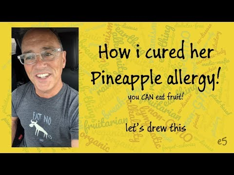 How I cured her Pineapple allergy! Let's Drew This: episode 5