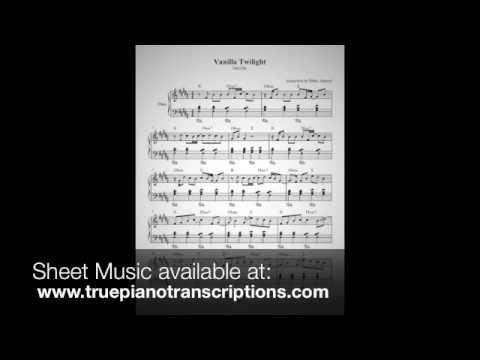 Vanilla Twilight - Owl City - Piano Solo