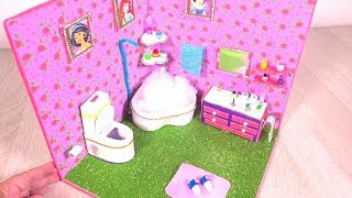 DIY Miniature Dollhouse ~ Disney Princess Makeup room and Bathroom
