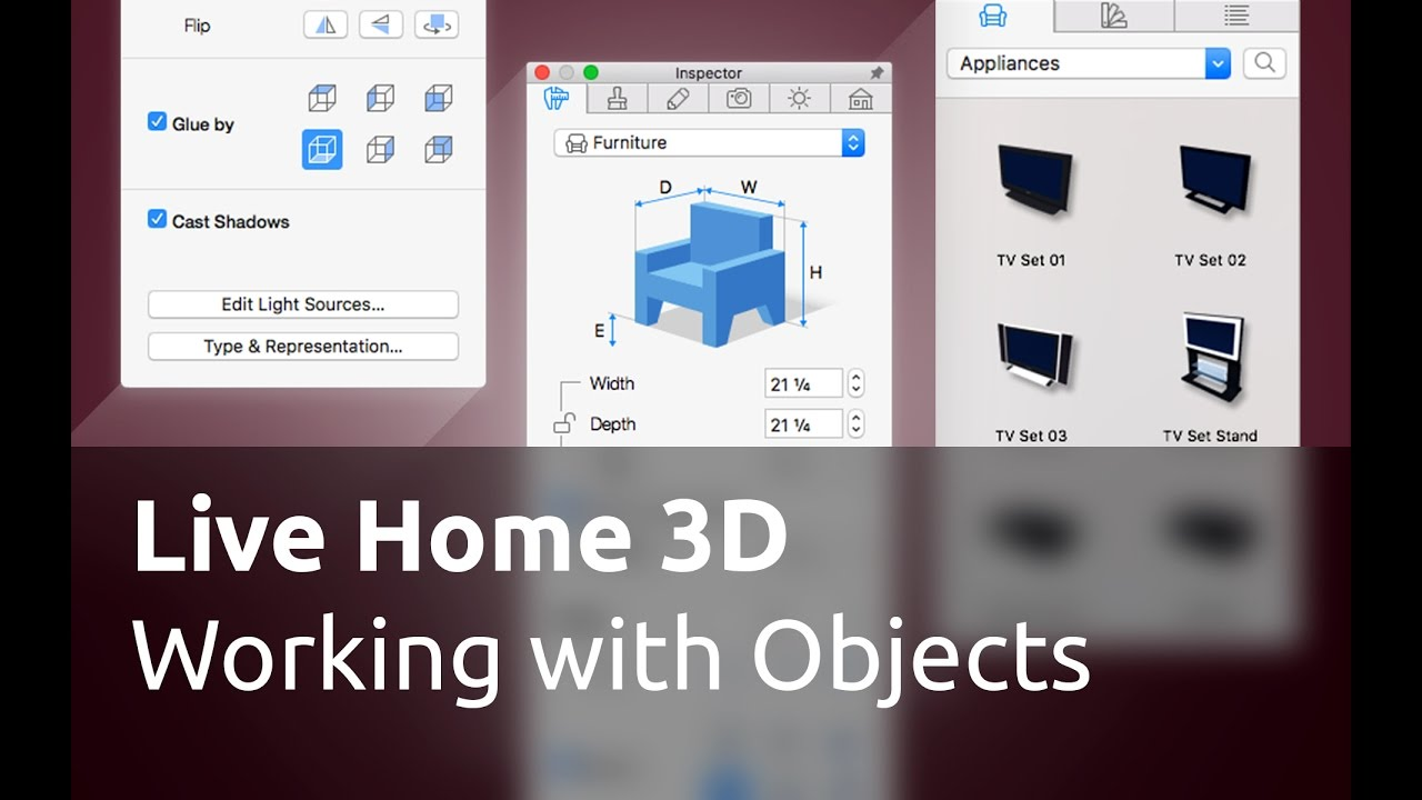Live Home 3D for Mac Tutorials - Working with Objects