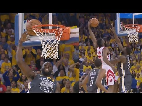 James Harden Dunks on Draymond! Game 4 2-2! 2018 NBA Playoffs