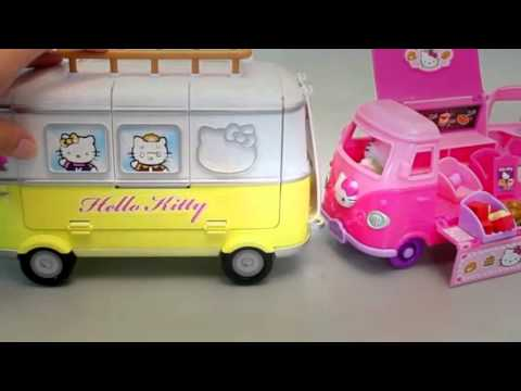Hello Kitty Camping Cars Le Jouets Snack Van Mini Jouet Voiture Youtube