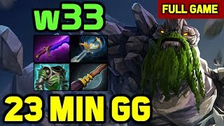 w33 Trying NEW 7.23 TINY mid w/ Miracle- and Gh