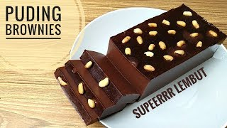 Resep puding brownies super lembut