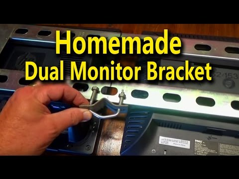 Homemade Dual Monitor Bracket - Made from common hardware