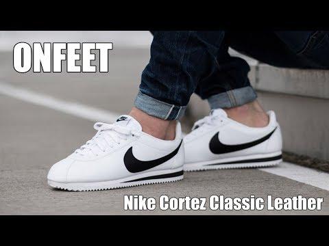biggest discount united kingdom on feet shots of Nike Classic Cortez Leather