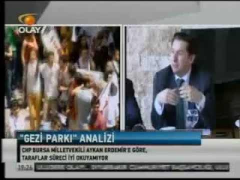 CHP Bursa Mv. Aykan Erdemir 'Gezi Parkı Analizi' (Olay TV Ana Haber, 11 Haziran 2013)