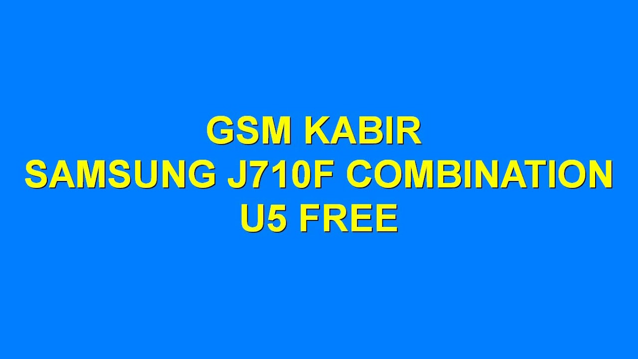 Samsung J710F U5 Combination Lattest Free File