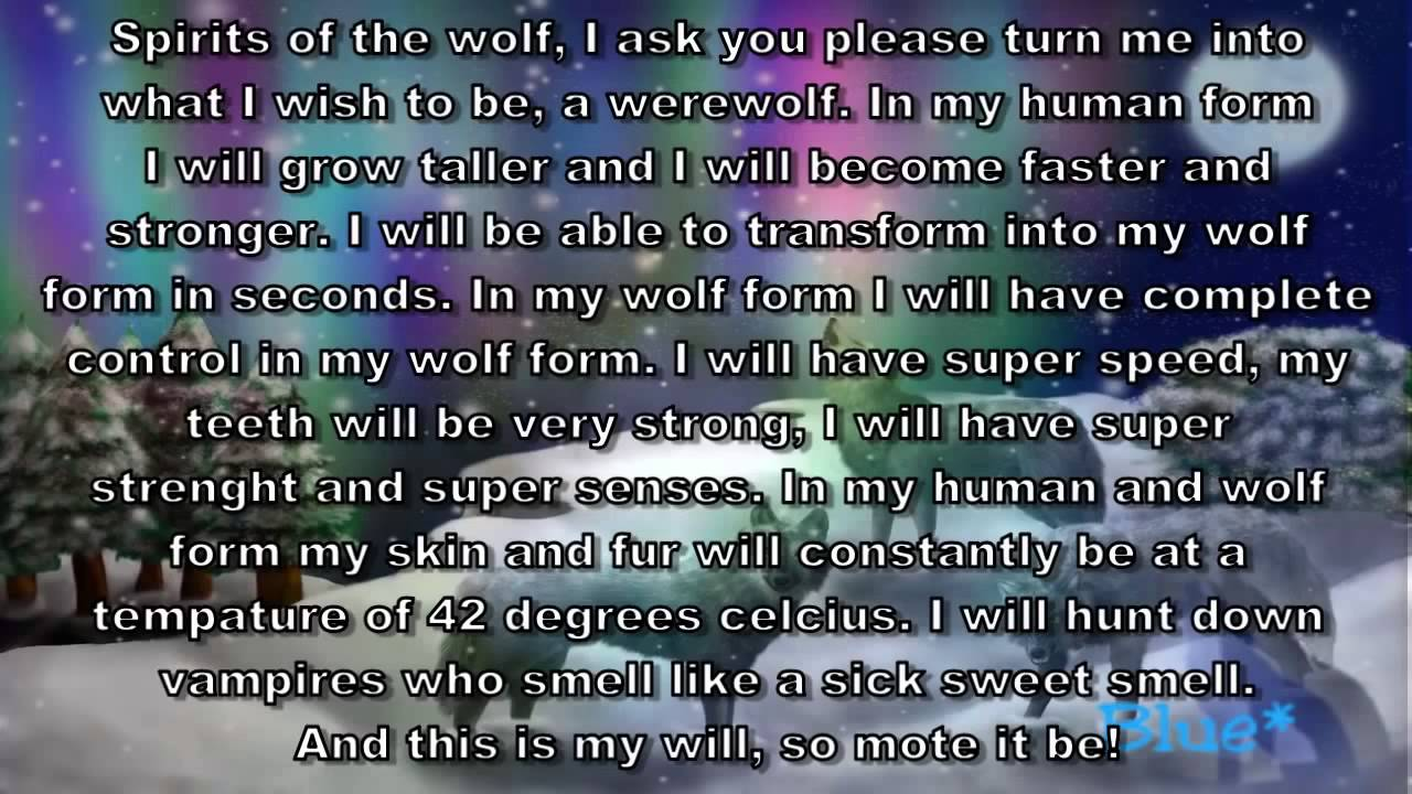 Real Werewolf Spells That Work Instantly