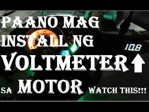 HOW TO INSTALL VOLTMETER IN  MOTORCYCLE (SUZUKI SMASH 115)