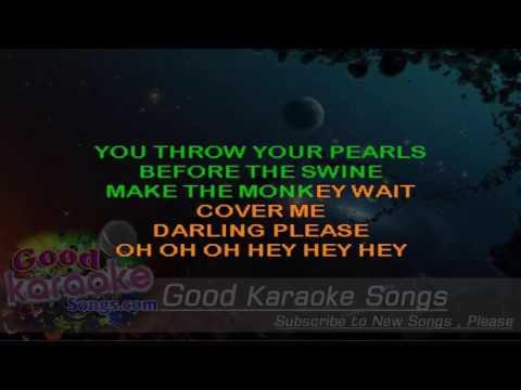 Shock The Monkey -  Peter Gabriel (Lyrics Karaoke) [ goodkaraokesongs.com ]