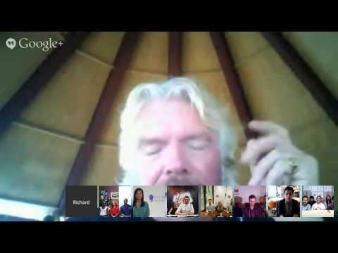 Hangout with Richard Branson and Ben Silbermann
