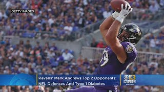 Ravens' Mark Andrews Is Having A Breakout Season. His Two Opponents: NFL Defenses And Type 1 Diabete