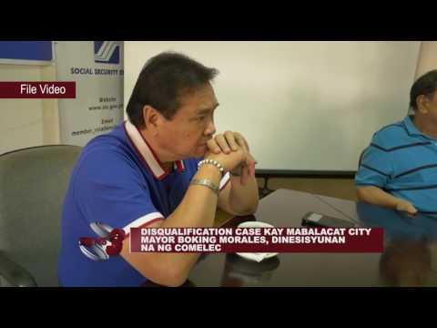 DISQUALIFICATION CASE KAY MABALACAT CITY MAYOR BOKING MORALES, DINESISYUNAN NA NG COMELEC