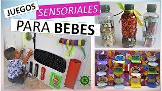 Juegos Sensoriales Para Bebes Tablero Montessori Botellas Sensoriales Youtube