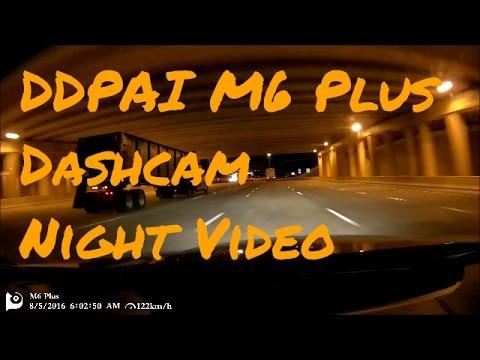 CaddyInfo.com DDPAI M6 Plus Night Video Example