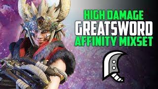 High Damage Greatsword Build BEST Great Sword - Great Wyvern Jawblade Monster Hunter World Weapons
