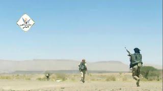 شاهد لحظات وصول ابطال الجيش الوطني لخط الاسفلت و قطع طريق صنعاء صرواح