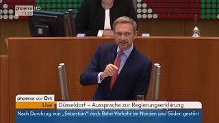 Christian Lindner zur Regierungserklärung von Armin Laschet am 14.09.17