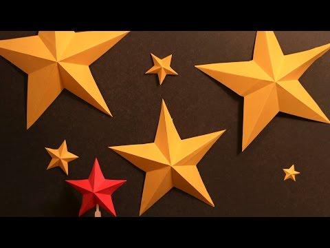 How to Make Simple Kirigami Stars ⭐
