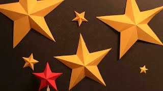 How to Make Simple Kirigami Stars ⭐