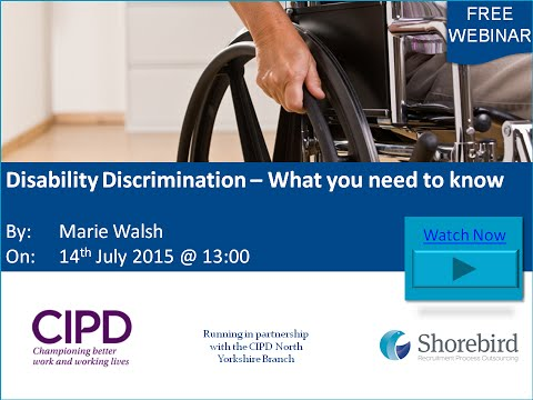 Disability Discrimination – What you need to know