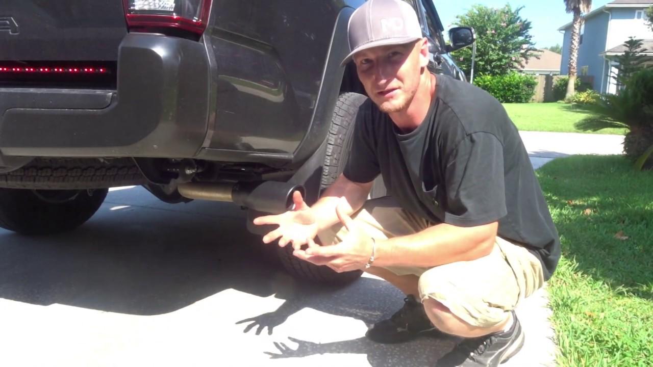 tacoma exhaust tip diy install