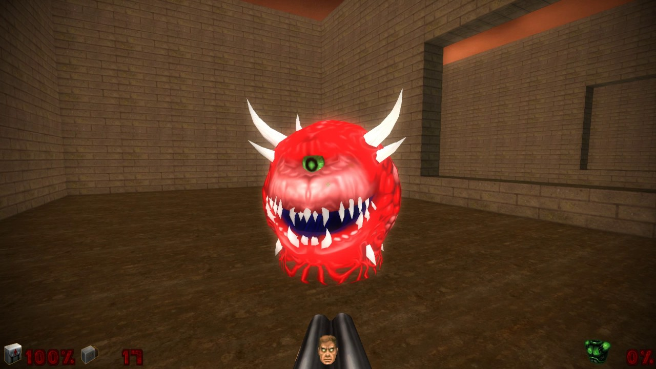 doom 2 - doomsday engine x64 with 3d models testmap - youtube