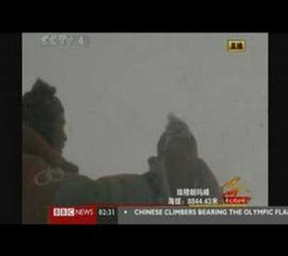 Olympic Torch Relay Everest peak BBC coverage