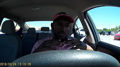 Driving with lyft rental car