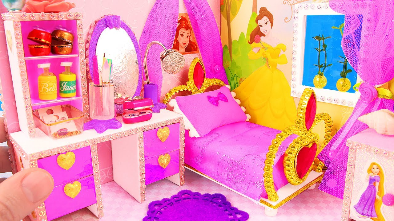 Diy Miniature Princess Dollhouse Youtube