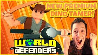 NEW PREMIUM DINO TAMER TOWER!!😱WORLD DEFENDERS FRIDAY UPDATE!!