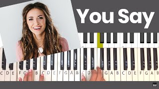 You Say - Lauren Daigle Piano Tutorial and Chords Video