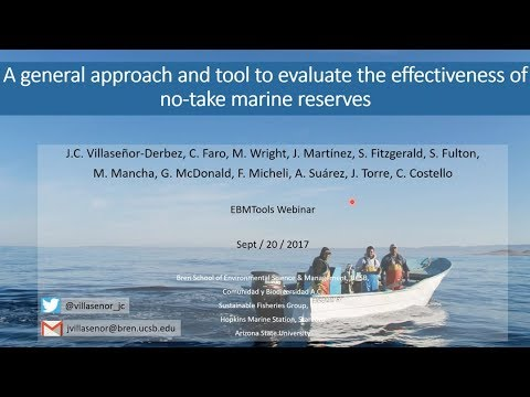 A General Approach and Tool to Evaluate the Effectiveness of No-Take Marine Reserves