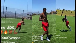 Paul George SHOWS OFF his FOOTBALL TALENTS with his Friends!