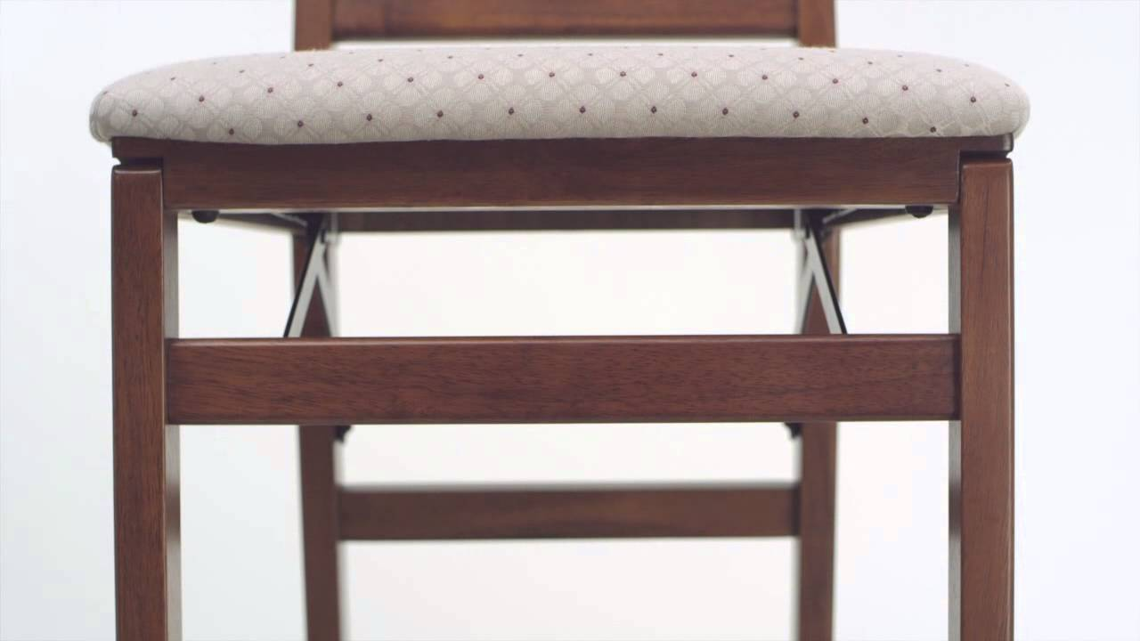 Upholstered Folding Dining Chairs   Scotts of Stow - YouTube